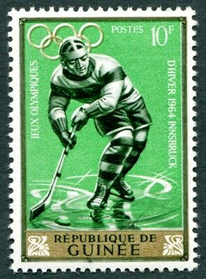 GUINEA 1964 10f SG435 mint MH FG Winter Olympic Games Innsbruck #W9