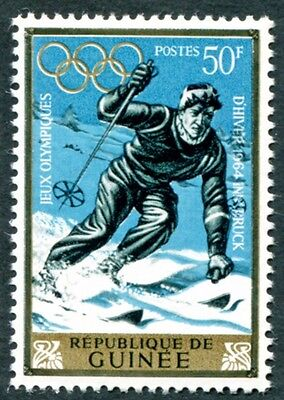 GUINEA 1964 50f SG437 mint MH FG Winter Olympic Games Innsbruck #W9