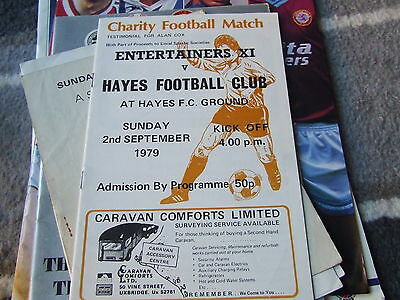 @ Hayes Fc....entertainers Xi V Hayes Fc 1979 Charity Match