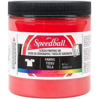 Speedball Fabric Screen Printing Ink 8oz-Red 651032045615