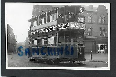 Nottingham Tram Trams Postcard Size Old Photo Car 1 Bulwell Terminus Ref13