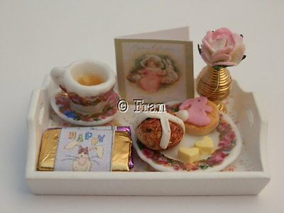 Dolls house food:  Easter sweet treats tray    -By Fran