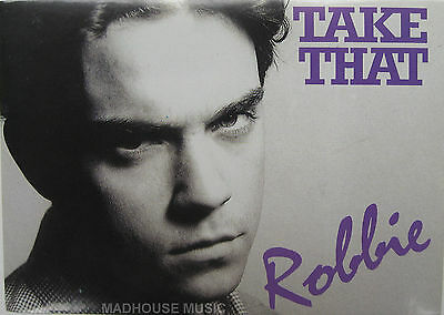 TAKE THAT Postcard ROBBIE Williams 1994 Original OLIVERS BOOKS UK Mint ONE ONLY