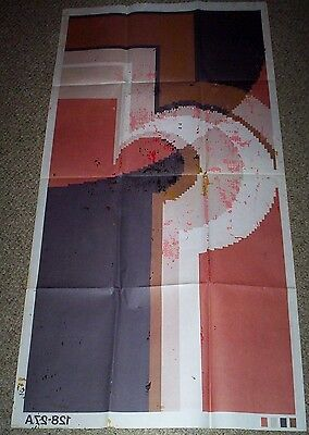 """Vintage SHILLCRAFT 128 NEVADA 27"""" x 54"""" Full Sized Color Paper Print"""