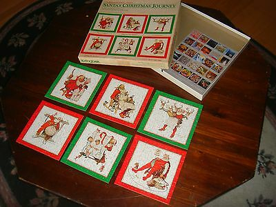 vtg COMPLETE springbok 500 6 ind jigsaw puzzles in one Santa's Christmas Journey