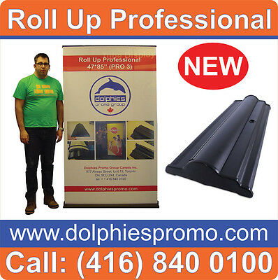 """48"""" Wide Retractable Banner Stand Backdrop Wall Roll Pop Up Display + FREE PRINT"""