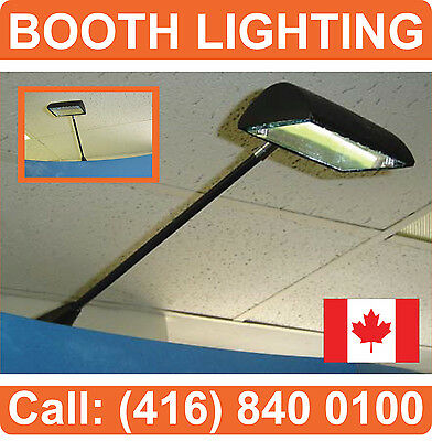 LOT OF 4 - BOOTH LIGHTING Tradeshow Spot Light for Pop Up Displays Banner Stands