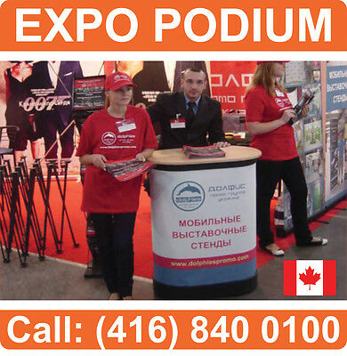 PREMIUM TradeShow Counter Table & Travel Carrying Case + PRINTED WRAP+WOODEN LID