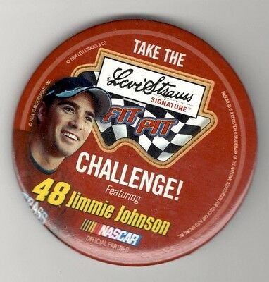Sports Nascar Pin Pinback Button  Levi Strauss Fit Pit  Jimmie Johnson #48