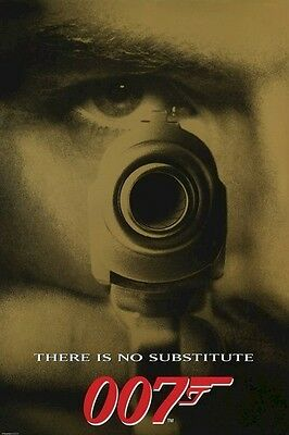 JAMES BOND ~ GOLDENEYE NO SUBSTITUTE 24x36 MOVIE POSTER Pierce Brosnan There Is