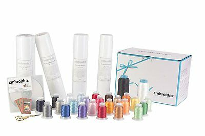 Embroidery Machine Starter Kit - Everything included - Thread, Stabilizer + More