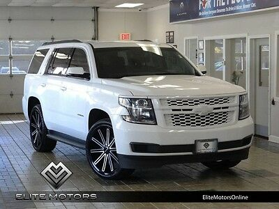 2015 Chevrolet Tahoe LT Sport Utility 4-Door 15 chevrolet tahoe lt 4wd leather navi gps usb music smart card 24 in wheels
