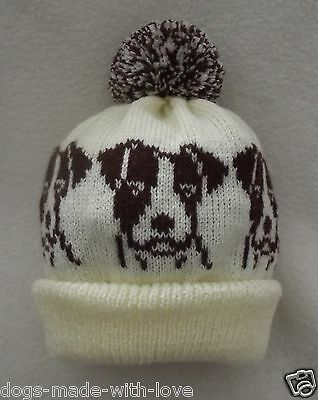 JACK RUSSELL TERRIER dog NEW Knitted beanie pompom bobble ADULT size HAT