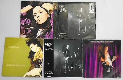 "Dead Or Alive. 5 x 7"" vinyl Single Records in Ex Condition...Pete Burns."