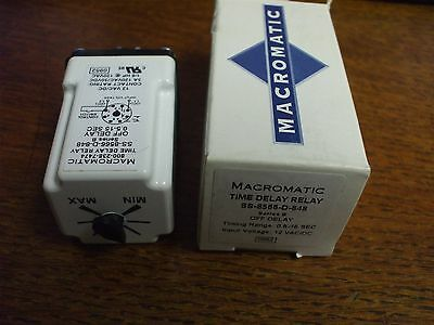 Ss-8566-D-848 Macromatic Time Delay Relay Standard 8 Pin Off Delay 12 Vac/dc