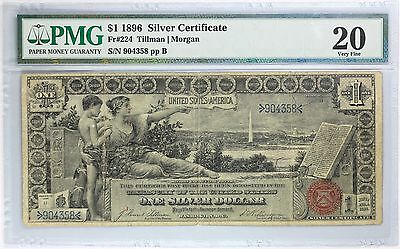 1896 $1 Silver Certificate PMG VF 20, Fr#224, Educational Note