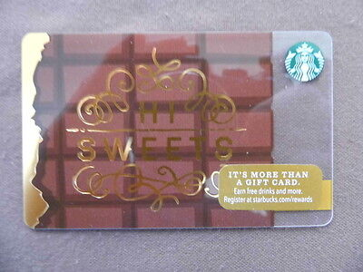 STARBUCKS CARD ( to collect no value ) USA 2016  HI SWEETS