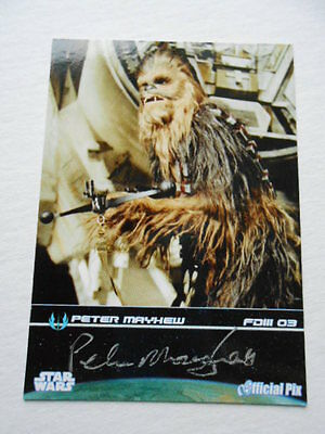 Star War rare card signed in person by Peter Mayhew w/ COA