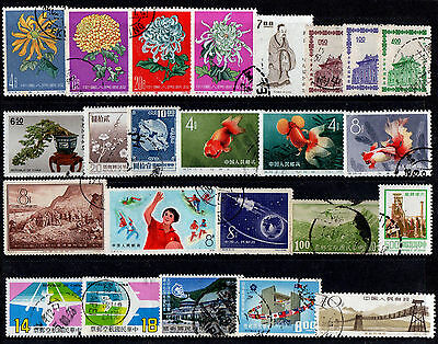 China Collection Of 24 Old Stamps Good Used High Cat. £