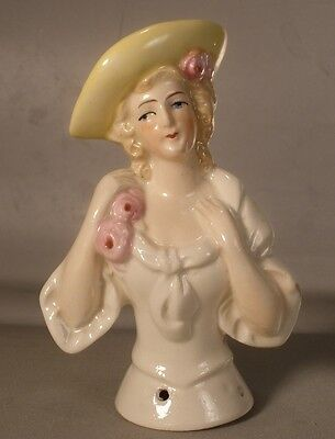 German Half Doll with Yellow Hat