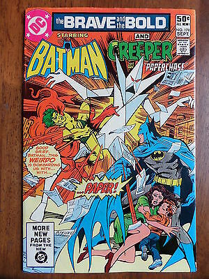 THE BRAVE AND THE BOLD #178 Batman And The Creeper F/VF 1981 Bronze Age Classic!