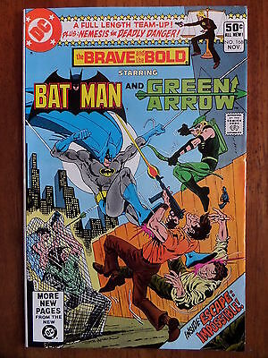 THE BRAVE AND THE BOLD #168 F/VF 1980 Batman And Green Arrow Bronze Age Classic!