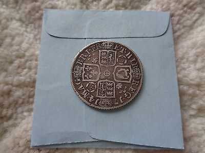 1714 Great Britain Anne 1 Shilling silver coin Higher grade Scarce variety