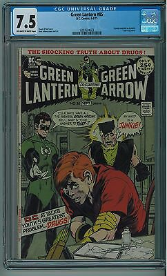 Green Lantern #85 Cgc 7.5 Speedy Junkie Cover Off-White To White Pages 1971