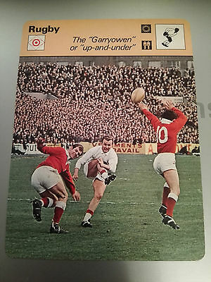 RUGBY UNION - 'GARRYOWEN' / 'UP AND UNDER' - Sportscaster Photo Card
