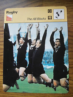 RUGBY UNION - THE ALL BLACKS - Sportscaster Photo Fact Card