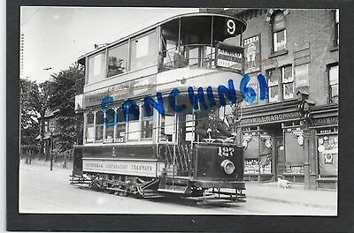 Nottingham Trams Postcard Size Old Photo Car 127 At Sherwood. To Arnold, Ref21