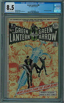 Green Lantern #86 Cgc 8.5 Anti-Drug Story High Grade Ow/w Pages 1971