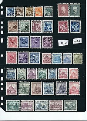 Mint stamp set #1962 / Third Reich / Daily life in WWII Czechoslovakia / All MNH