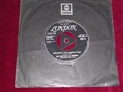 JIM BACKUS & FRIEND - Delicious (The Laughing Song) - London (TRI) HLJ8674- 1958