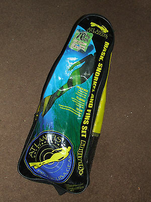 Mask and Snorkel + Fins flipper combo FULL diving Set snorkelling...used