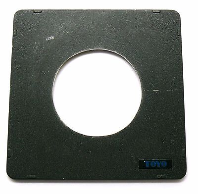 Genuine Toyo 158mm x 158mm lens board panel lensboard 80mm hole EXC+ #71403