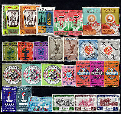 Iraq Irak Collection Of 27 Old Stamps In Sets & Singles Mint Not Hinged