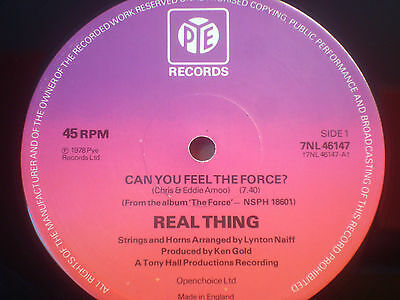 "*listen* REAL THING - CAN YOU FEEL THE FORCE  12"" CLASSIC 1978 EX"