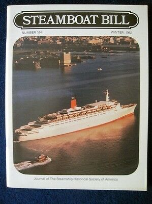 STEAMBOAT BILL, Winter 1982 -- Central-Hudson Steamboats, Guide to Cruise Ships