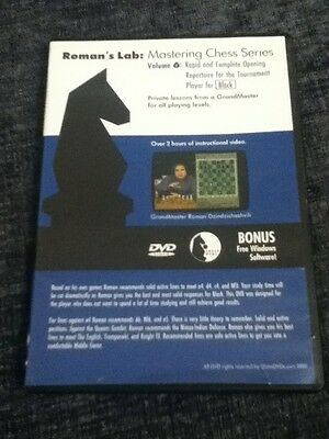 Chess DVD - Roman's Lab Volume 6: Rapid & Complete Opening Repertoire For Black