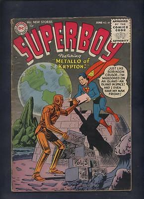 Superboy #49 DC superman silver  age comic KEY ISSUE 1ST METALLO