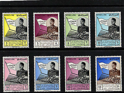 Iraq Irak 1963 Army Day General Kassem Complete Set Mint Not Hinged