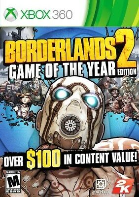 Xbox 360 Game Borderlands 2 Game Of The Year Goty Brand New And Sealed