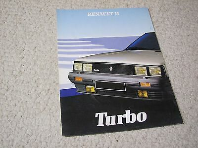 1984 Renault 11 Turbo Sales Brochure..