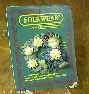 Boyds Bears Pin, Frogmorton...Pad Sweet Pad! FROG on Blooming Lily Pad~ MINT NEW