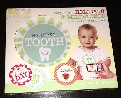 STEPPING STONES 12pc Belly Stickers HOLIDAYS & MILESTONES Baby's First INFANT
