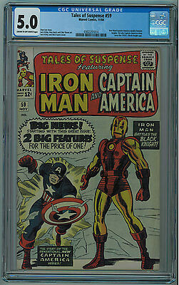 Tales Of Suspense #59 Cgc 5.0 Kirby Art And Cover Cream To Off-White Pages 1964