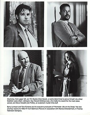 Homicide: Life on the Street 1993 8x10 Black & white TV photo #nn