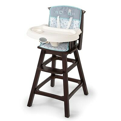 Summer Infant Classic Comfort Wood Highchair - Turtle Tale