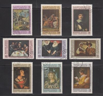 1967 Painting Velasquez Botticelli Gauguin Fragonard David Complete set of 9 qq